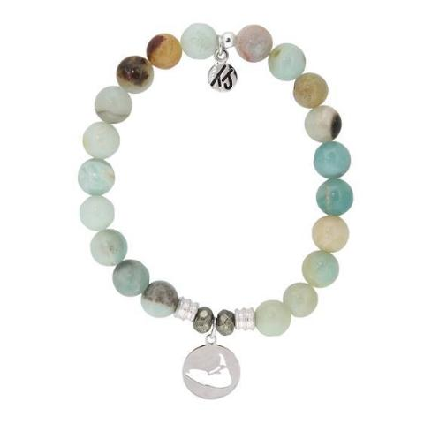 Amazonite Island Cut Out StACKed Bracelet