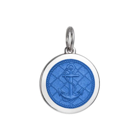 Medium Colby Davis Anchor Charm in French Blue