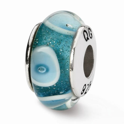 Aqua Dot Glass Bead