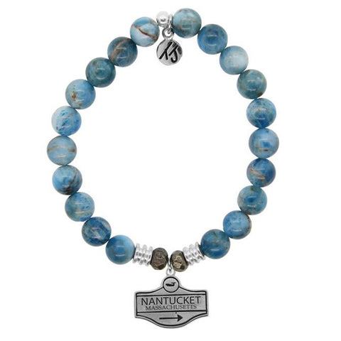 Arctic Apatite Street Sign StACKed Bracelet