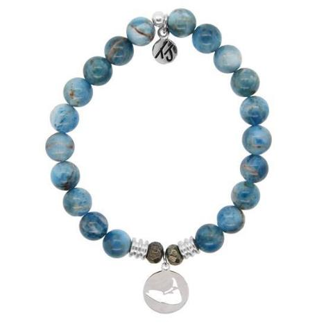 Arctic Apatite Island Cut Out StACKed Bracelet