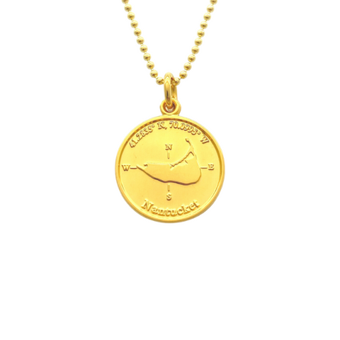 Small Colby Davis Gold Nantucket Charm in Gold Vermiel