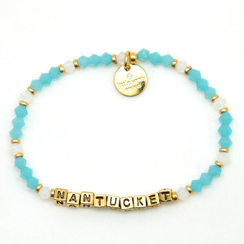 Little Words Project Gold Nantucket Azul Bracelet