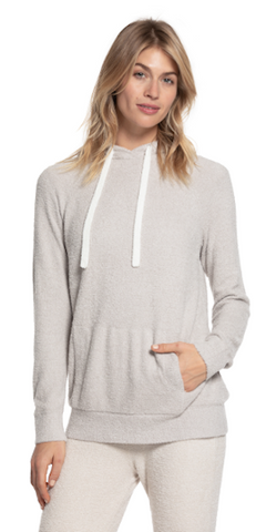 Pullover Hoodie in Silver