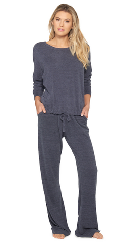 Slouchy Pullover in Pacific Blue