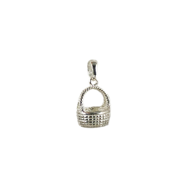 Nantucket Large Basket Bracelet Charm in Sterling Silver