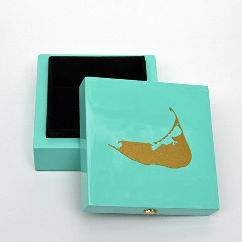 Nantucket Bauble Box in Aqua