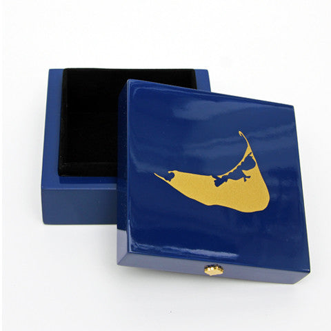 Nantucket Bauble Box in Navy