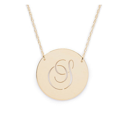 14kt Gold Beso Disc Necklace by Moon & Lola