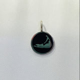 Small Enamel Nantucket Island Charm in Black