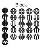 Acrylic Block Monogram Earrings by Moon and Lola
