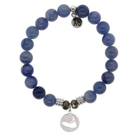 Blue Aventurine Island Cut Out StACKed Bracelet