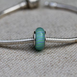 Blue and Green Glass Bead