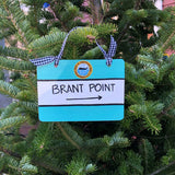 """Brant Point"" Nantucket Street Sign Ornament"