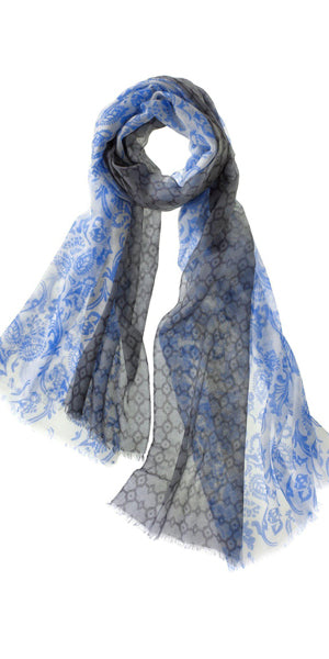Catena Featherweight Cashmere Scarf in Blue Quartz