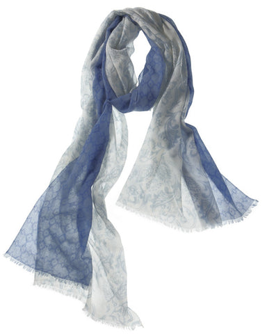 Catena Featherweight Cashmere Scarf in Topaz