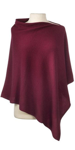 Cashmere Cape in Claret