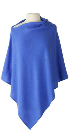 Cashmere Cape in Cornflower
