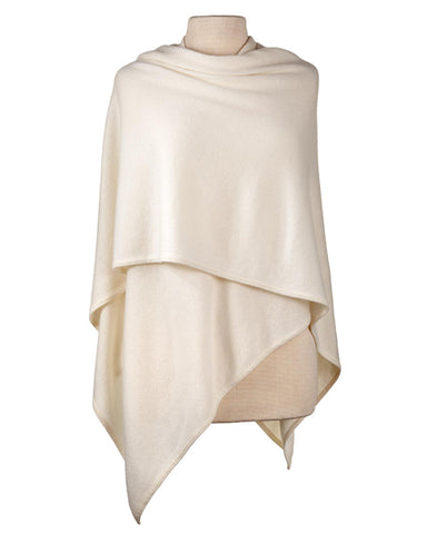 Cashmere Crossover Wrap in Ivory