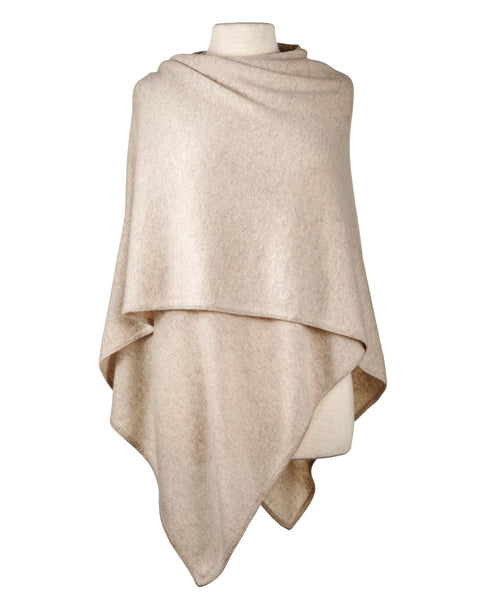 Cashmere Crossover Wrap in Sand