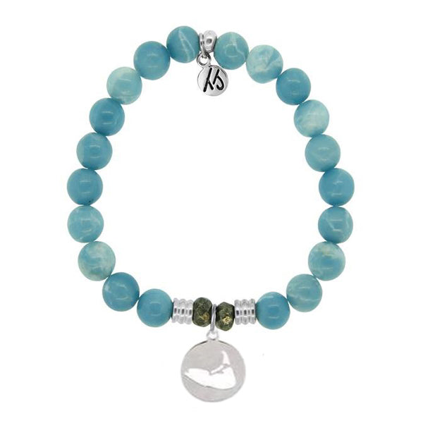 Sky Agate Island Cut Out StACKed Bracelet