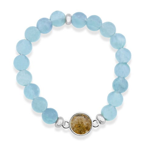 Nantucket Sand Bracelet in Aquamarine