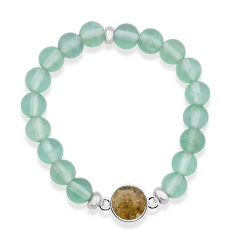 Nantucket Sand Bracelet in Prehnite