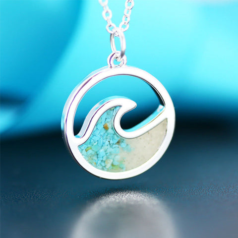 Nantucket Sand Wave Necklace
