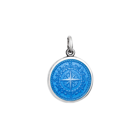 Small Colby Davis Compass Charm in French Blue