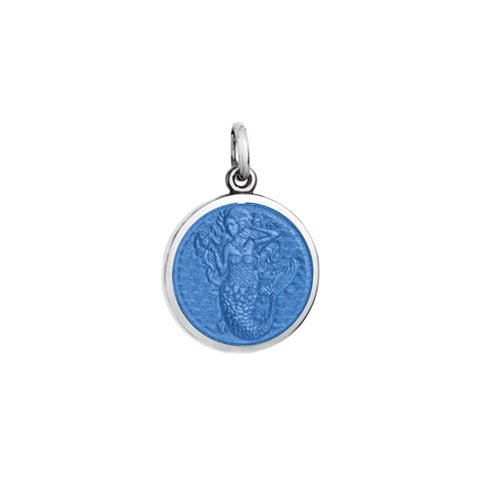 Small Colby Davis Mermaid Charm in French Blue