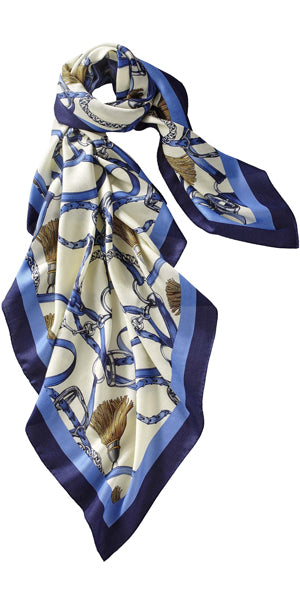 Grande Firenze Cashmere/Silk Scarf in Royal