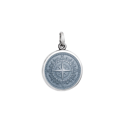 Small Colby Davis Compass Charm in Gray