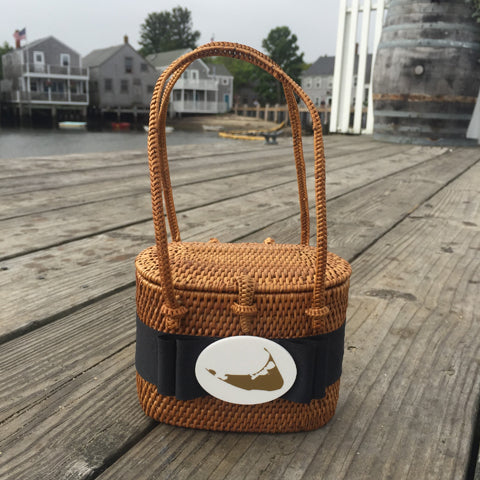 Nantucket High Baby Bali Basket with Black Ribbon