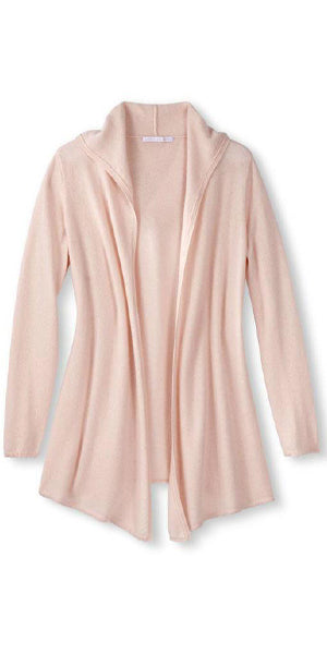 Cashmere Casual Hoodie in Pale Pink