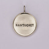 Large Rimmed Sterling Silver Nantucket Charm