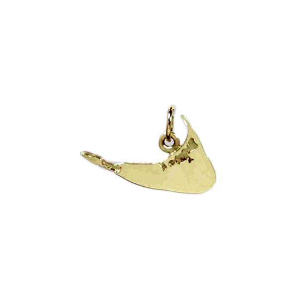 Island Map Charm in 14kt Gold