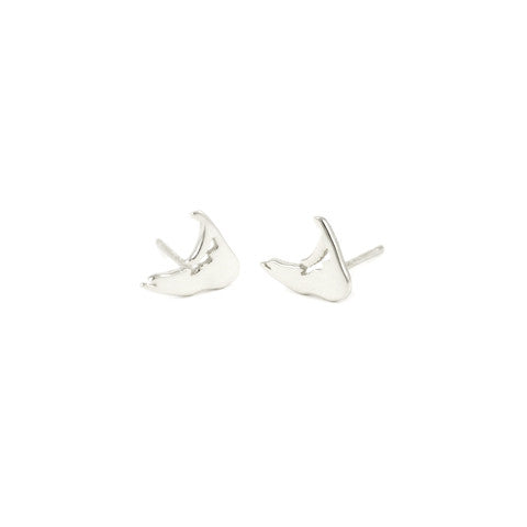 Island Stud Earrings in Silver