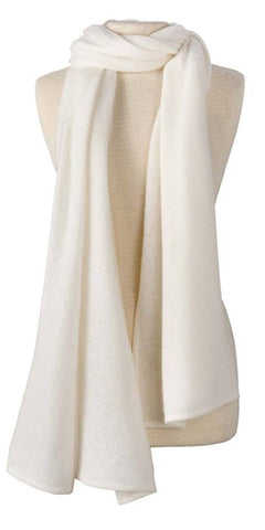 Cashmere Lightweight Travel Wrap in Ivory
