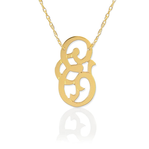 Fancy Initial Necklace by Jane Basch