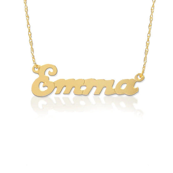 Small Script Nameplate Necklace by Jane Basch