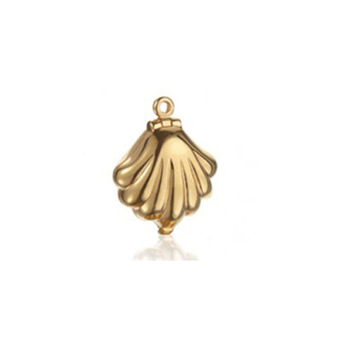 Clam Shell Bracelet Charm in Gold Vermeil