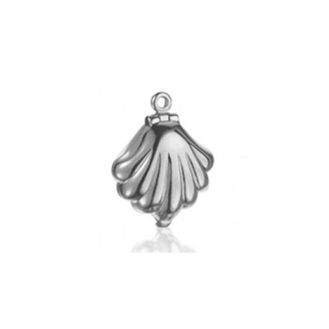 Clam Shell Bracelet Charm in Sterling Silver