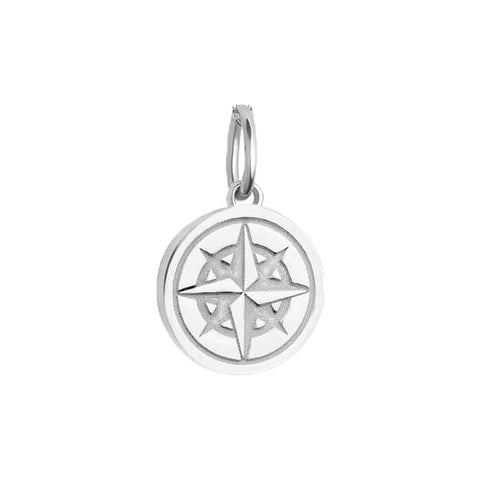 Mini Compass Bracelet Charm in Sterling Silver