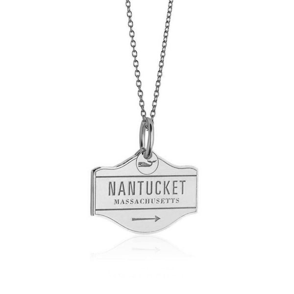 Nantucket Street Sign Charm in Sterling Silver by Jet Set Candy
