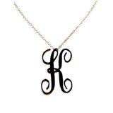 Acrylic Script Initial Necklace by Moon & Lola