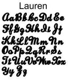 Lauren Font Acrylic Nameplate Necklace by Moon & Lola
