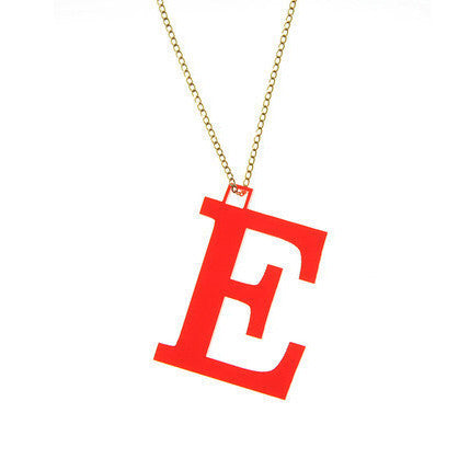 Colette Acrylic Block Initial Necklace