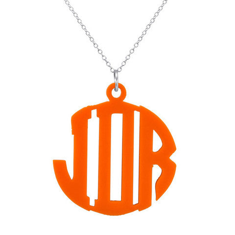 Block Acrylic Monogram Necklace