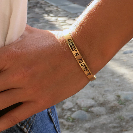 Nantucket Coordinates Collection Legend Bracelet in Antique Gold