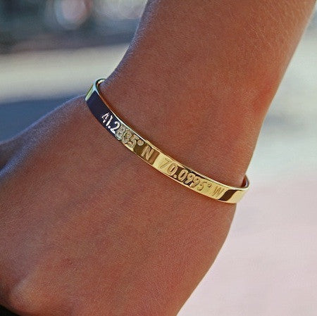Nantucket Coordinates Collection Legend Bracelet in Gold